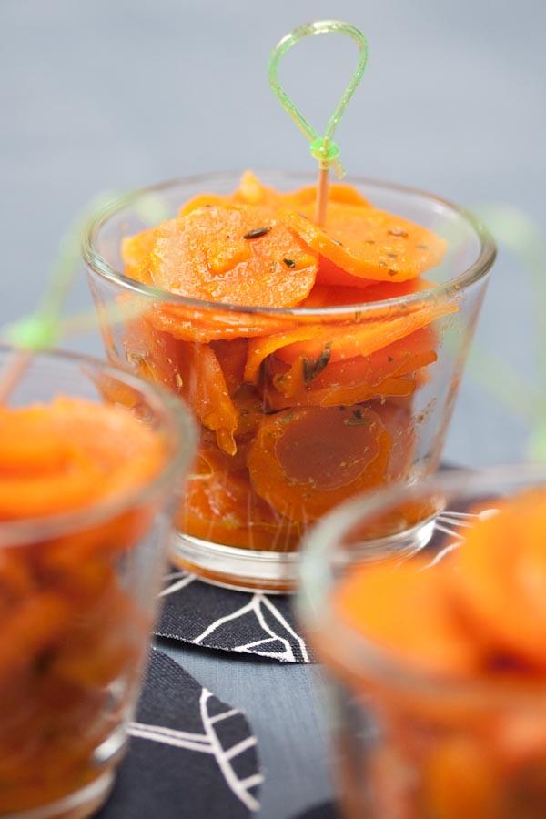 Photographie culinaire carottes au cumin