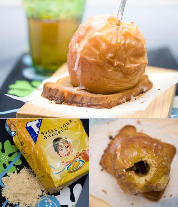 Photographie culinaire pomme au four