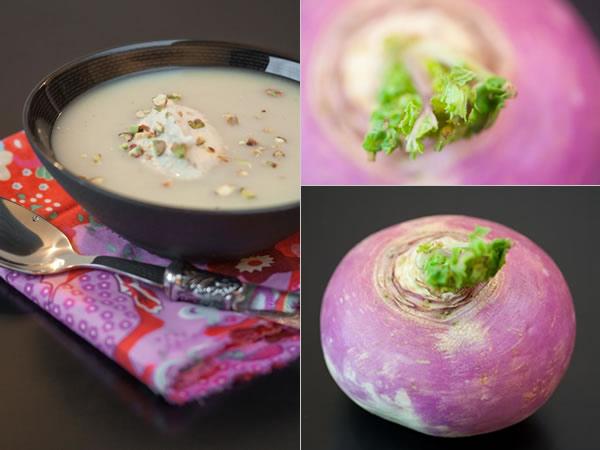 Photographie culinaire velouté de navets & chantilly au beurre de cacahuètes