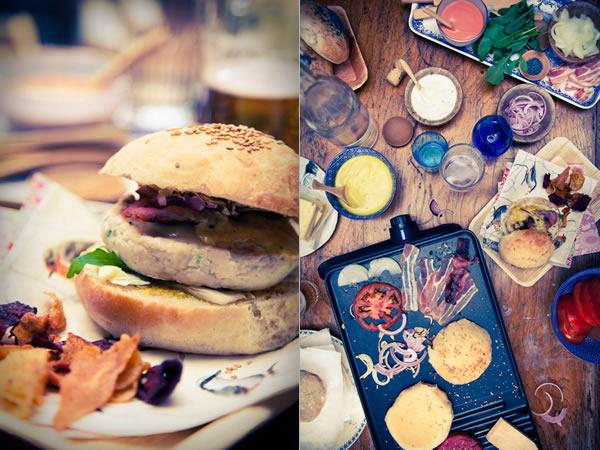 photographie culinaire burger party