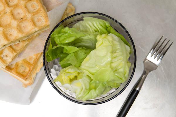 Photographie culinaire gaufres au maroilles