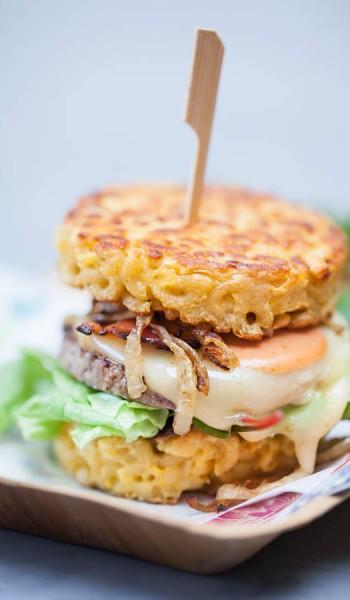 galettes de coquillettes en burger