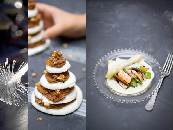 Photographie culinaire menu de noël