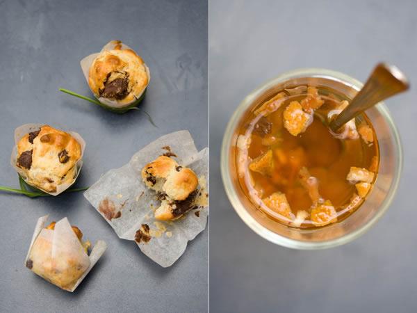 Photographie culinaire muffins choco-poire à la ricotta