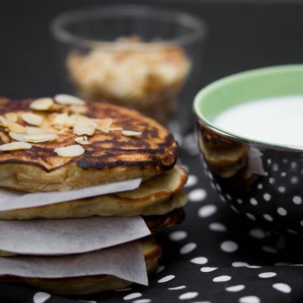 Photographie culinaire pancakes à la banane