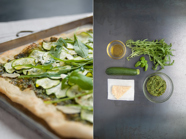 pizza bianca verde