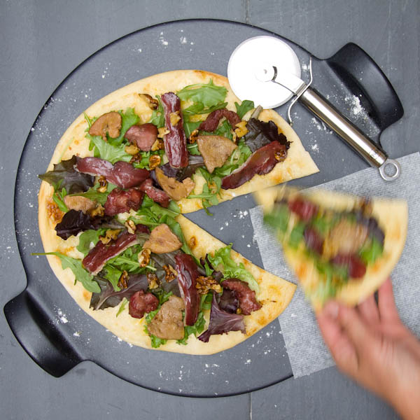 Photographie culinaire pizza périgourdine