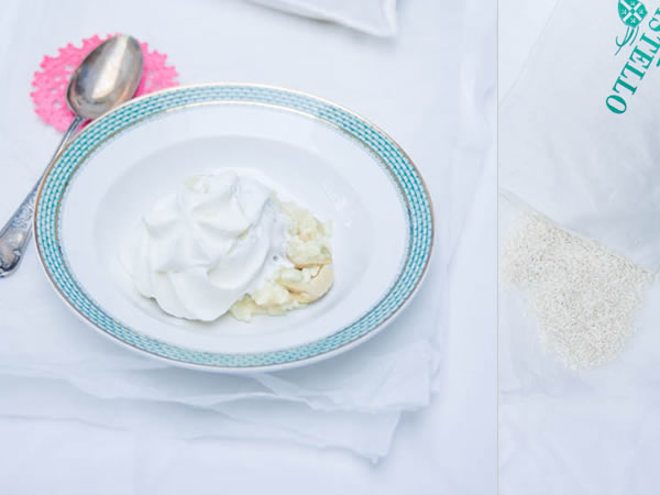 photographie culinaire risotto aux coeurs d'artichaut et chantilly truffée