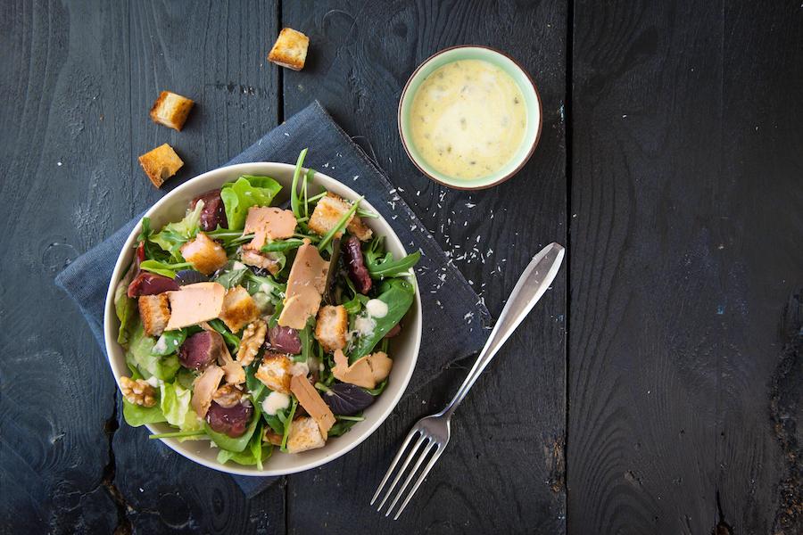 salade gasconne à la vinaigrette coco passion