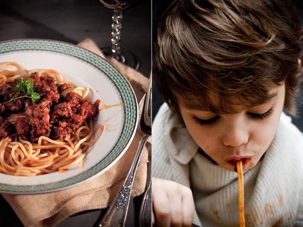 Photographie culinaire spaghetti bolognaise