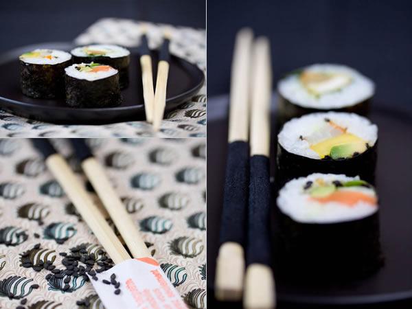 Photographie culinaire sushi maki
