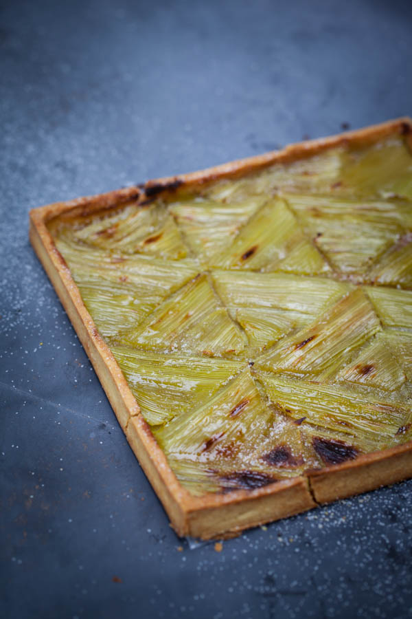photographie culinaire tarte à la rhubarbe