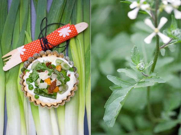 Photographie culinaire tartelette à la ricotta et légumes