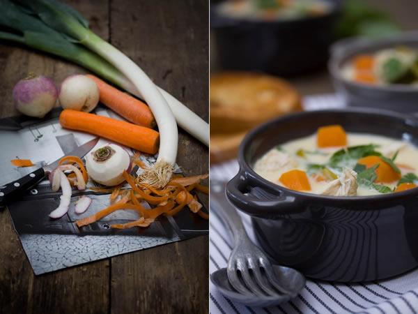 Photographie culinaire waterzoï de poulet